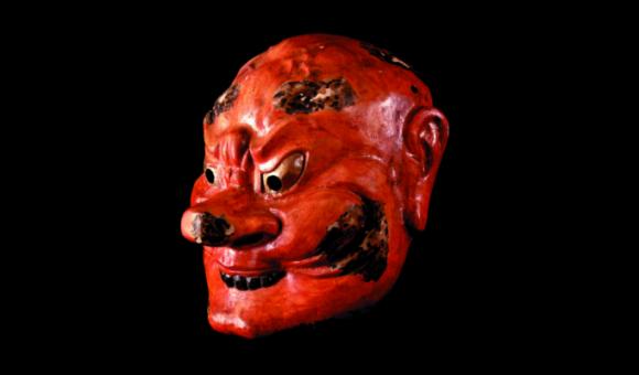 Masque de théâtre, masque de Bugaku, de Gyo do © O. Desart pour le M.I.C.M., Binche