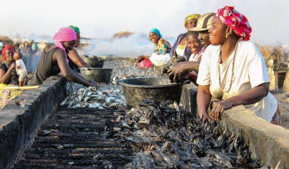 Women in the fishing industry at Joal-Fadiouth - © APEFE