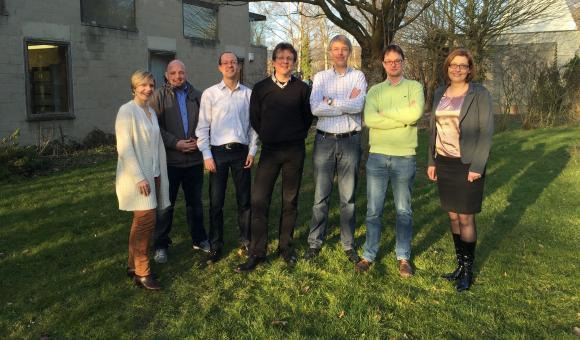 L'équipe d'Elysia au Cyclotron de Liège