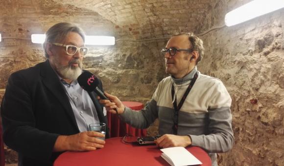 Philippe Reynaert, Wallimage (g.) et Jacques Hoflack, RSI (d.)