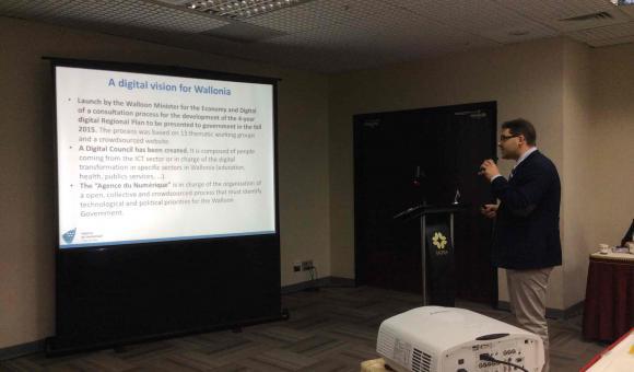 """Présentation de la """"vision digitale"""" pour la Wallonie à Taipei"""