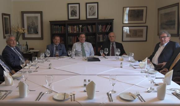 Repas de travail des Présidents de Chambres européennes au Pérou