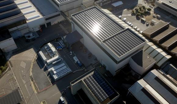 Unveiled by the technology group John Cockerill, MiRIS is made up of 6,500 solar panels