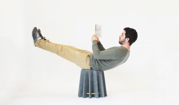 The AMAR foldable stool by AMORCE Studio