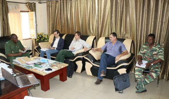 The DGD delegation in a meeting with the National Coordination of the Great Green Wall for the Sahara and the Sahel Initiative in the presence of the APEFE Programmes Administrator