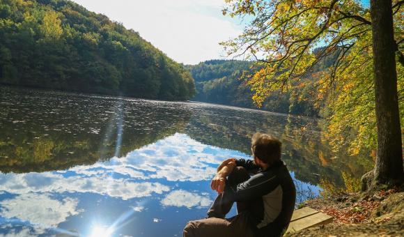 Le Lac de Nisramont, dans la vallée de l'Ourthe