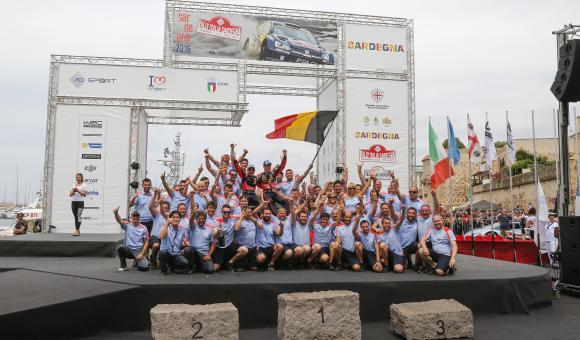 Nicolas Gilsoul team podium rallye sardaigne