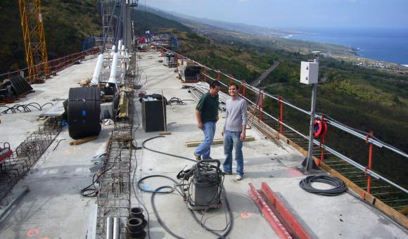 Bridge in construction at La Réunion Island