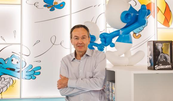 Stephan Uhoda, the CEO of Cecoforma, which produced the Smurf Experience