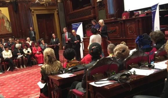 Presentation of the honorary title of Woman of Peace in the Senate in Belgium