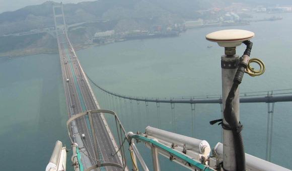 GNSS surveillance of large bridges
