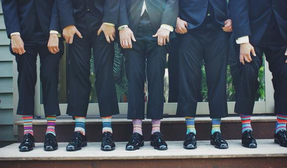 De bien belles chaussettes