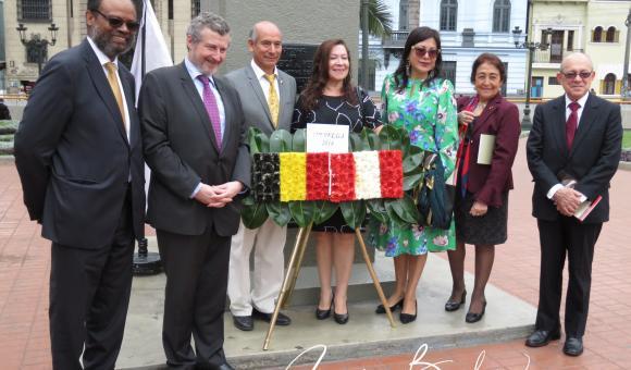 Inauguration de la nouvelle plaque Plazuela Bélgica