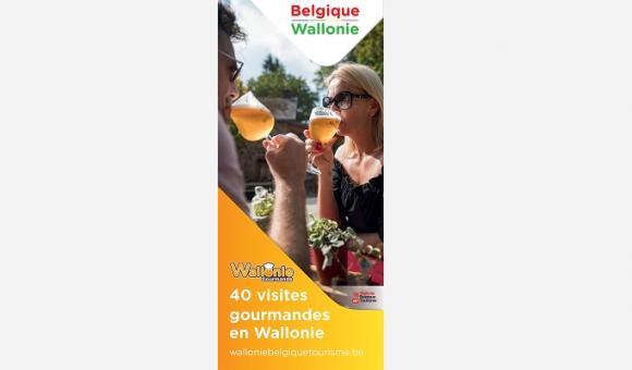 carte 40 visites gourmandes en Wallonie